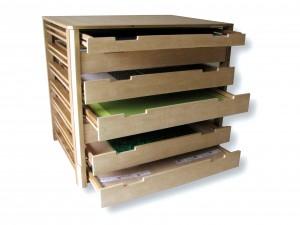 meuble-cartonnier-frêne-tiroirs-goupilpierre-image